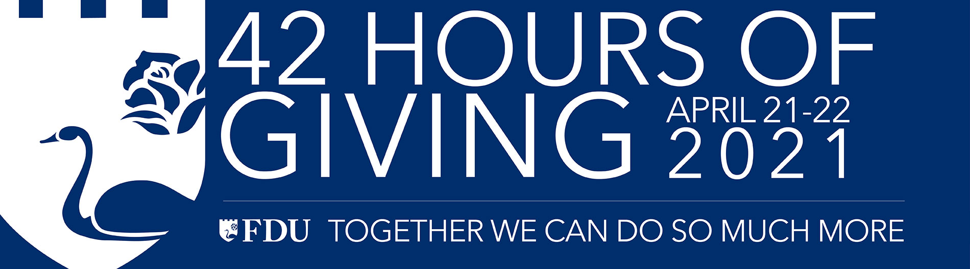 FDU 42 Hours of Giving Banner