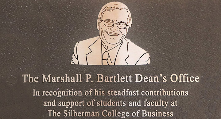 Marshall Bartlett commemorative plaque.