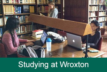 Wroxton Students Studying in Library